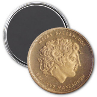 Alexander the Great, king of Macedonians 3 Inch Round Magnet