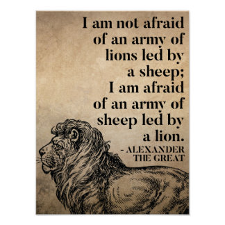 Alexander The Great Quote On Leadership Poster