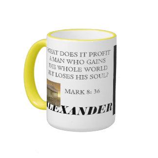 ALEXANDER THE GREAT RINGER COFFEE MUG