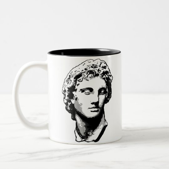 Alexander the Great statue Two-Tone Coffee Mug