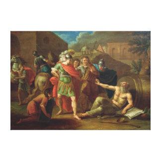 Alexander the Great visits Diogenes at Corinth Canvas Print