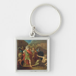 Alexander the Great visits Diogenes at Corinth Keychain