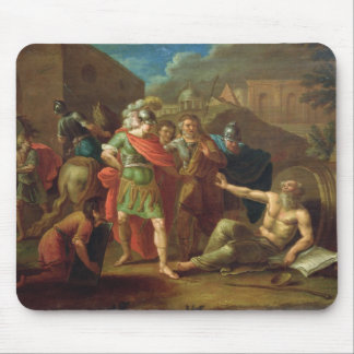 Alexander the Great visits Diogenes at Corinth Mouse Pad