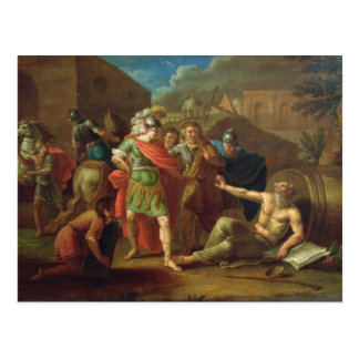 Alexander the Great visits Diogenes at Corinth Postcard