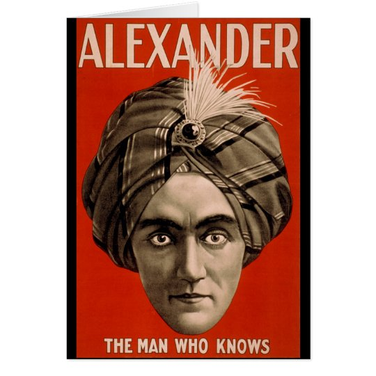 Alexander the man who knows Magic Card