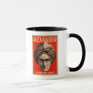 Alexander the Man who Knows Magic Poster Mug