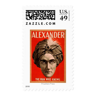 Alexander the Man who Knows Magic Poster Postage