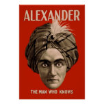 Alexander the Man Who Knows Print