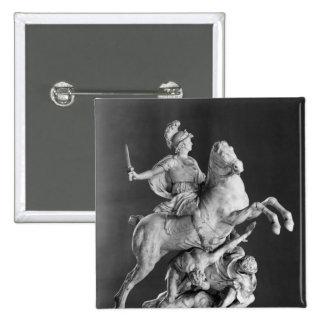 Alexander victorioso, después de 1683 pin cuadrada 5 cm
