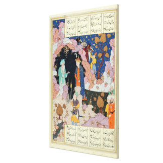 Alexander Visits a Hermit Canvas Print