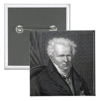 Alexander von Humboldt, grabado por C. Cook Pin Cuadrado