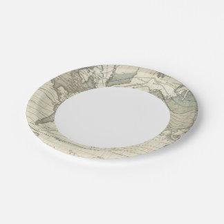 Alexander von Humboldt's system isothermal curves Paper Plate