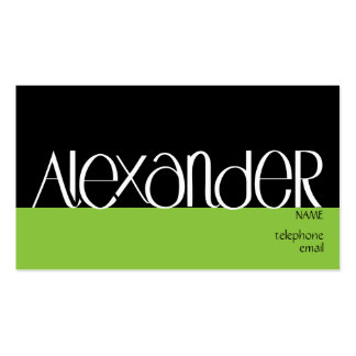 Alexander white Profile Card Business Card