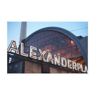 alexanderplatz de Berlín Impresión En Lienzo