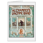 Alexander's Ragtime Band Vintage Songbook Cover Card