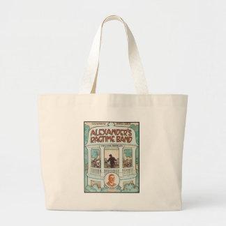 Alexander's Ragtime Band Vintage Songbook Cover Large Tote Bag