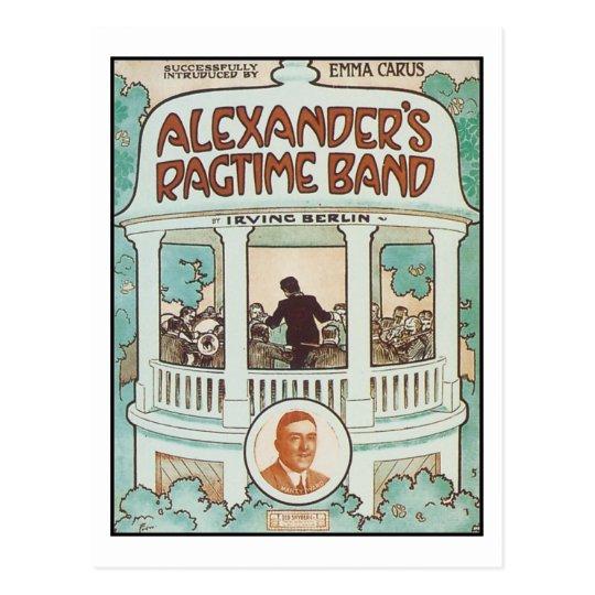 Alexander's Ragtime Band Vintage Songbook Cover Postcard