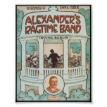 Alexander's Ragtime Band Vintage Songbook Cover Poster