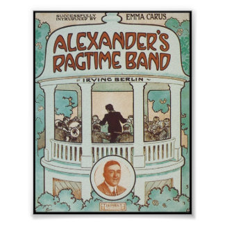 Alexander's Ragtime Band Vintage Songbook Cover Print