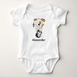 Alexander's Rock and Roll Puppy Baby Bodysuit