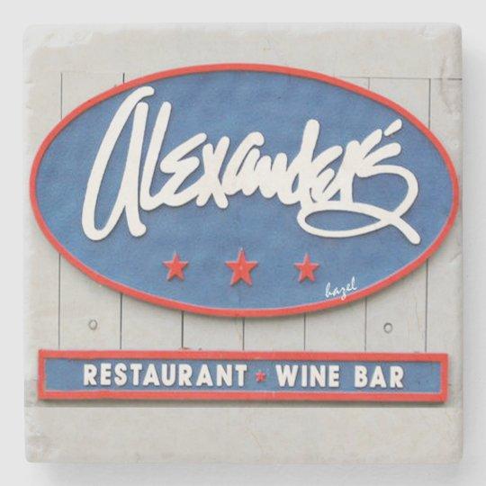 Alexanders Seafood Restaurantbar Hilton Headsc Stone Coaster