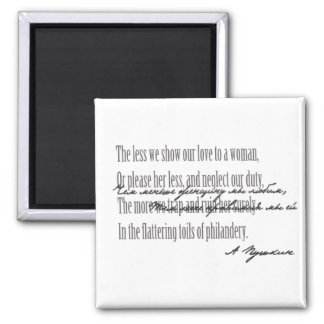Alexandr Pushkin - Eugene Onegin Ch. 4, st.1 Fridge Magnets