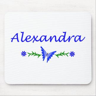 Alexandra (Blue Butterfly) Mousepads