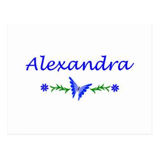 Alexandra (Blue Butterfly) Postcard