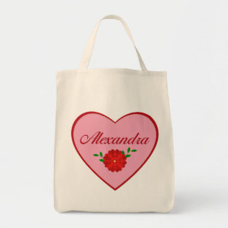 Alexandra corazón bolsas lienzo