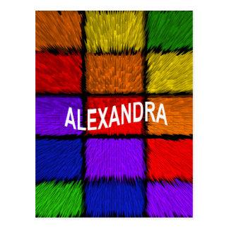 ALEXANDRA ( female names ) Postcard