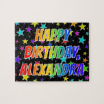 "[ Thumbnail: ""Alexandra"" First Name, Fun ""Happy Birthday"" Jigsaw Puzzle ]"