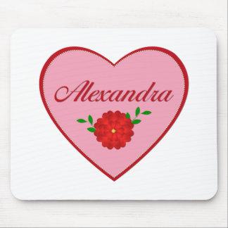 Alexandra (heart) mousepad