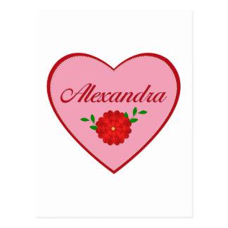 Alexandra (heart) postcard