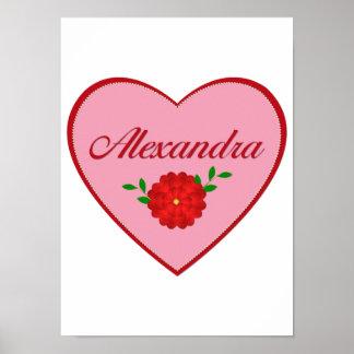 Alexandra heart poster