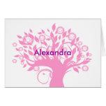 Alexandra le agradece tarjeta