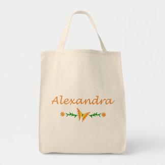 Alexandra mariposa anaranjada bolsas lienzo
