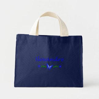 Alexandra mariposa azul bolsa de mano