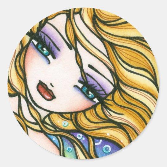 """""""Alexandra"""" Mermaid Classic Round Sticker"""