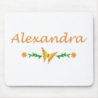 Alexandra (Orange Butterfly) Mouse Pads