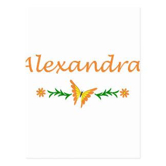 Alexandra (Orange Butterfly) Postcard