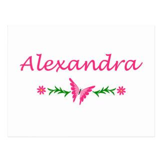 Alexandra (Pink Butterfly) Postcard