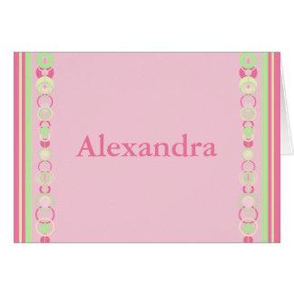 Alexandra Pink Modern Circles Card
