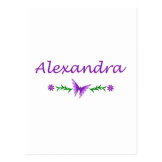Alexandra (Purple Butterfly) Postcard