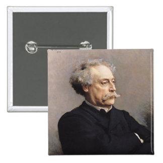 Alexandre Dumas Fils  1886 Pinback Button