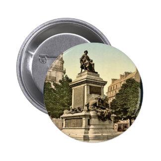 Alexandre Dumas monument Paris France vintage P Button