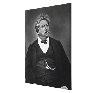 Alexandre Dumas pere (1802-70), from 'Galerie Cont Canvas Print