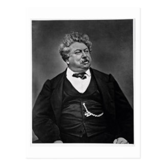 Alexandre Dumas pere (1802-70), from 'Galerie Cont Postcard
