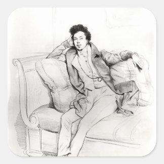 Alexandre Dumas Pere Square Sticker