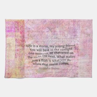 Alexandre Dumas Wisdom Life Quote Towel