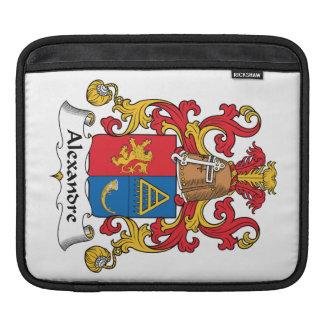 Alexandre Family Crest iPad Sleeve